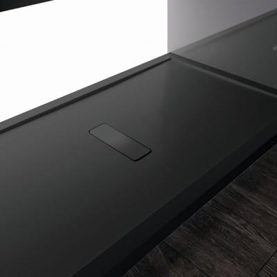 Novellini Custom brodzik prostokątny 120x80 cm z możliwością docinania czarny