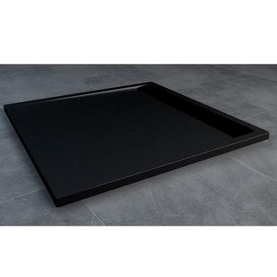 Sanswiss Ila brodzik kwadratowy 80x80 cm czarny granit WIQ08006154