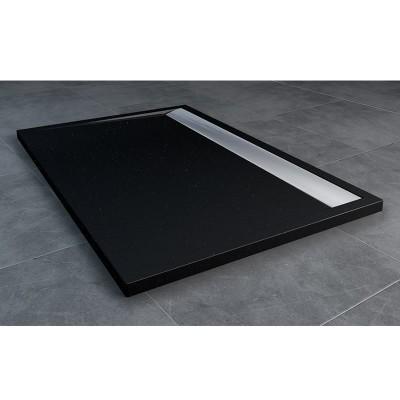Sanswiss Ila brodzik prostokątny 90x100 cm czarny granit WIA9010050154