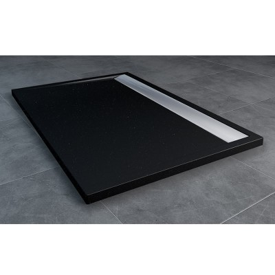 Sanswiss Ila brodzik prostokątny 90x150 cm czarny granit WIA9015050154