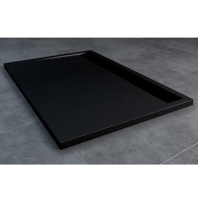 Sanswiss Ila brodzik prostokątny 80x90 cm czarny granit WIA8009006154