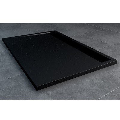 Sanswiss Ila brodzik prostokątny 90x100 cm czarny granit WIA9010006154