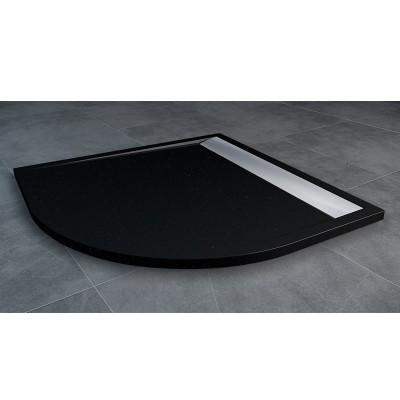 Sanswiss Ila brodzik półokrągły 90x90 cm czarny granit WIR5509050154