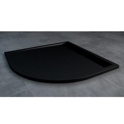 Sanswiss Ila brodzik półokrągły 80x80 cm czarny granit WIR5508006154