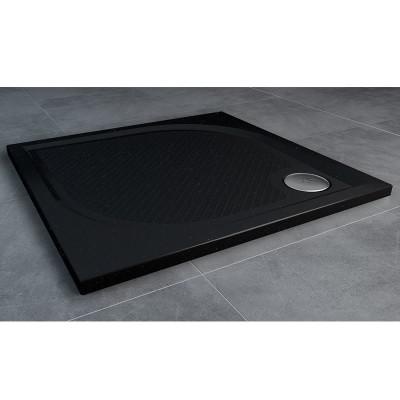 Sanswiss Marblemate brodzik kwadratowy 80x80 cm czarny granit WMQ0800154