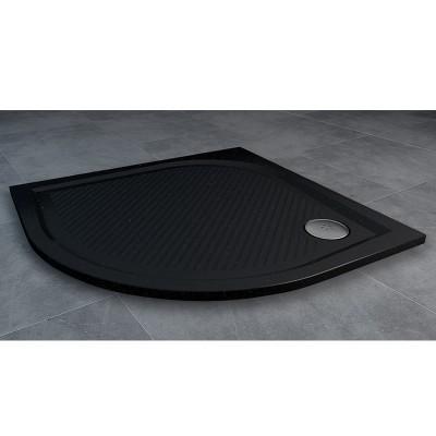 Sanswiss Marblemate brodzik półokrągły 80x80 cm czarny granit WMR550800154