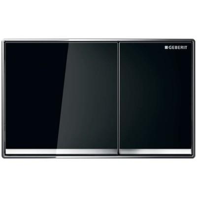 Geberit Omega 60 przycisk spłukujący szkło czarne 115081SJ1