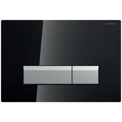 Geberit Sigma 40 przycisk spłukujący do WC z odciągiem szkło czarne 115600SJ1