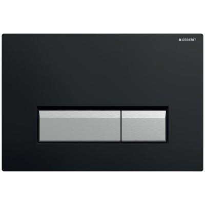 Geberit Sigma 40 przycisk spłukujący do WC z odciągiem czarny 115600KR1