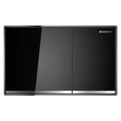 Geberit Sigma 60 przycisk spłukujący szkło czarne 115640SJ1