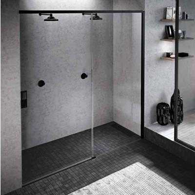 Novellini Opera 2PH drzwi do wnęki rozsuwane 120 cm prawe czarne