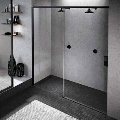 Novellini Opera 2PH drzwi do wnęki rozsuwane 170 cm lewe czarne