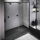 Novellini Opera 2PH drzwi prysznicowe 200 cm prawe czarny mat OPE2PH197D1K