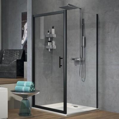 Novellini Zephyros G+F kabina kwadratowa 100x100 cm czarna