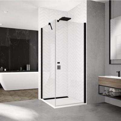 Sanswiss Solino kabina prostokątna 90x70 cm czarna