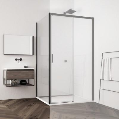 Sanswiss Top Line S ścianka boczna do drzwi 140 cm czarna