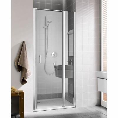 Kermi Cada XS drzwi do wnęki uchylne ze ścianką stałą 120 cm prawe