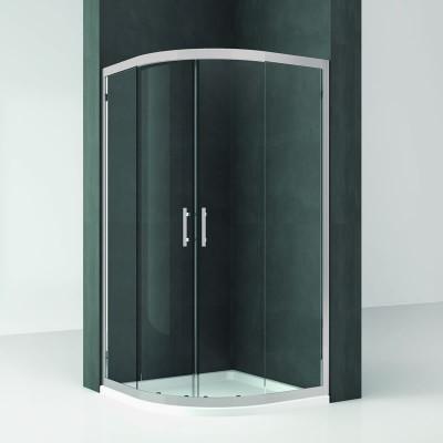 Novellini Kali R kabina półokrągła asymetryczna drzwi przesuwane 80x90 cm
