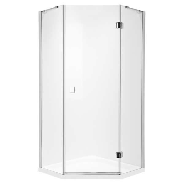 Roca Metropolis Diamond kabina pięciokątna drzwi uchylne 90x90x195 cm