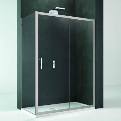 Novellini Kali 2P+F kabina prostokątna drzwi rozuwane 100x80 cm