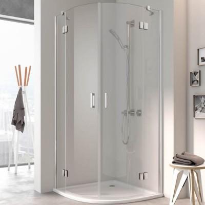 Kermi Osia kabina półokrągła drzwi uchylne 90x90 cm
