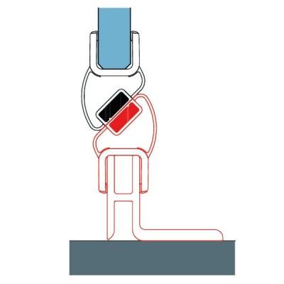 Sanswiss Zestaw montażowy drzwi do wnęki VANE50