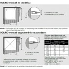 Sanswiss Solino kabina kwadratowa 80x80 cm