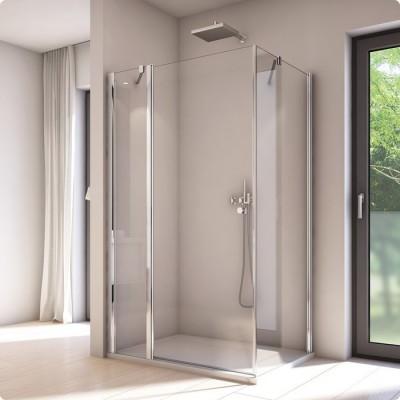 Sanswiss Solino kabina prostokątna 140x80 cm drzwi ze ścianką