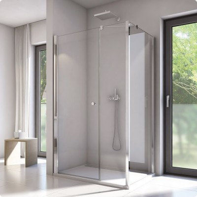 Sanswiss Solino kabina prostokątna 140x80 cm drzwi ze ścianką SOL31