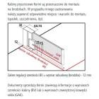 Kermi Raya kabina prostokątna drzwi uchylne 75x100 cm lewa