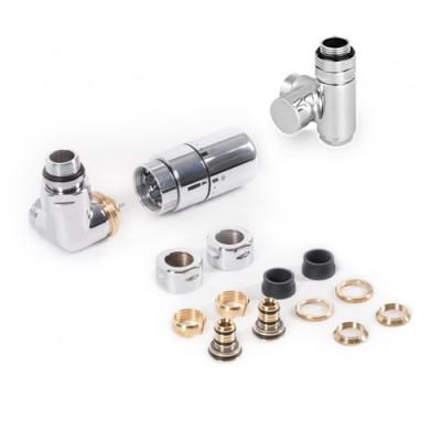 Terma zestaw trójosiowy termostatyczny z możliwością montażu grzałki lewy chrom WRZTCG4CR
