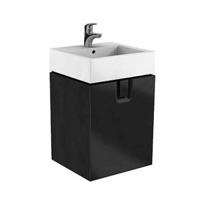 Koło Twins szafka podumywalkowa wisząca 50x57x46 cm z 1 szufladą czarny matowy 89497000