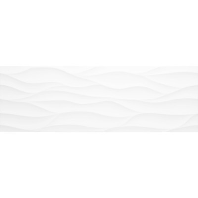 Egen Onda Glossy Wavy White płytka ścienna 29x89 cm