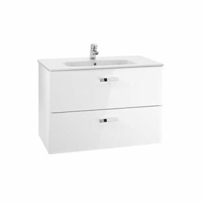 Roca Victoria Basic zestaw łazienkowy Unik 100 cm z szufladami biały połysk A855851806