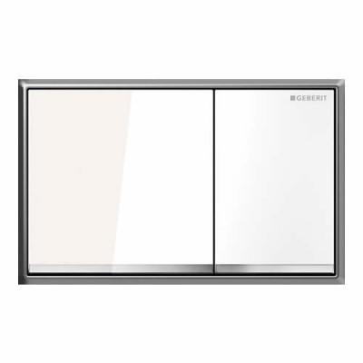 Geberit Sigma 60 przycisk spłukujący szkło białe 115640SI1