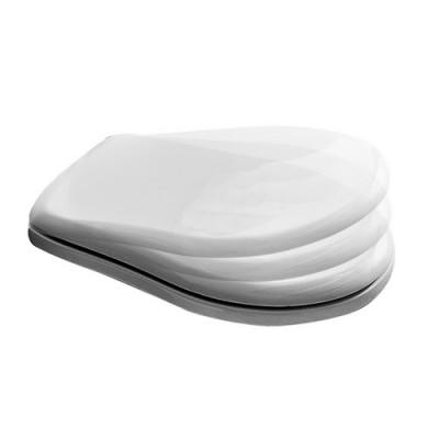 Kerasan Retro deska WC wolnoopadająca biała zawiasy chrom 108801