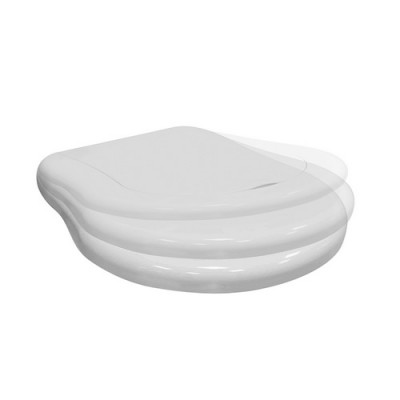 Kerasan Retro deska WC wolnoopadająca biała zawiasy chrom 108901