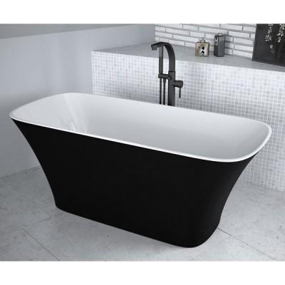 Besco Assos wanna wolnostojąca 160x70 cm czarna/biała