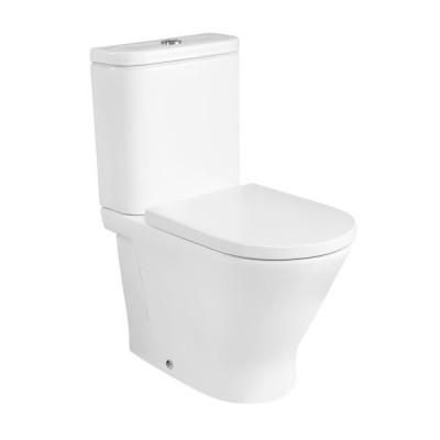 Roca Gap Round miska WC do kompaktu Rimless A3420N7000
