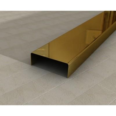 Egen Listwa dekoracyjna stalowa 3x244 cm gold