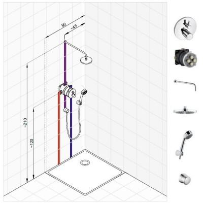 Kludi Zenta zestaw prysznicowy nr 4