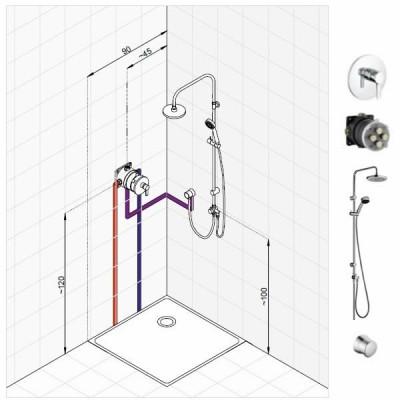 Kludi Zenta zestaw prysznicowy nr 2