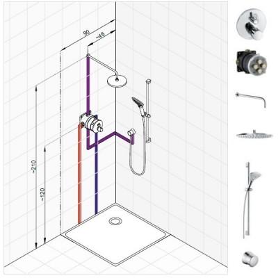 Kludi Balance zestaw prysznicowy nr 3