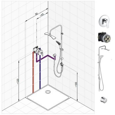 Kludi Balance zestaw prysznicowy nr 2