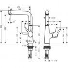 Hansgrohe Talis S bateria umywalkowa wysoka 72105000