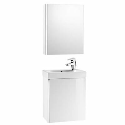 Roca Mini zestaw łazienkowy szafka + umywalka 45x25 cm + lustro