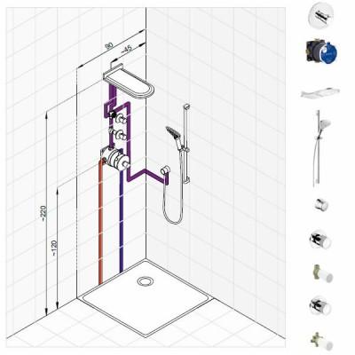 Kludi Balance zestaw prysznicowy nr 4