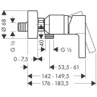 Hansgrohe Metris S bateria prysznicowa