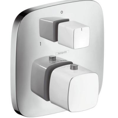 Hansgrohe Pura Vida bateria termostatowa z zaworem odcinająco-przełączającym