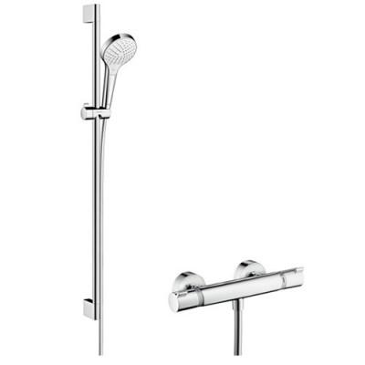 Hansgrohe zestaw prysznicowy Croma Select E Vario/Ecostat Combi 0,65 m lub 0,90 m 27013400